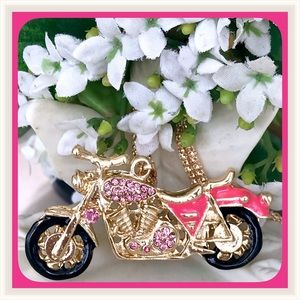 Jewelry - 🌺🌴🌺 PINK CRYSTAL MOTORCYCLE 🌺🌴🌺
